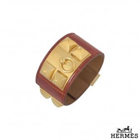 Hermes Alligator Collier De Chain Cuff